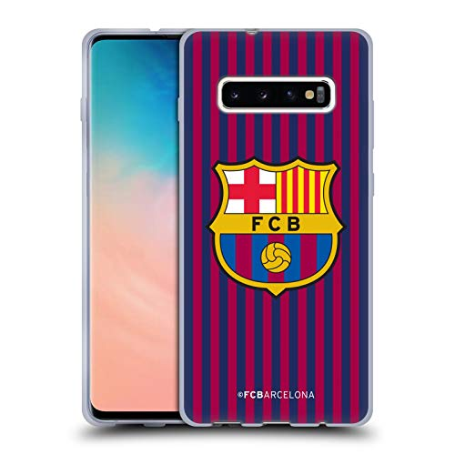 2b6f2c298 Official FC Barcelona Home 2018 19 Crest Kit Soft Gel Case for Samsung  Galaxy S10+   S10 Plus
