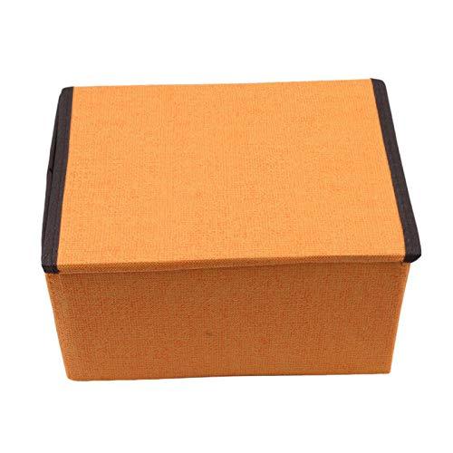 MOPOLIS Foldable Candy Color Storage Box Basket Anti-Bacterial Clothes Organizer Case (Color - Orange)