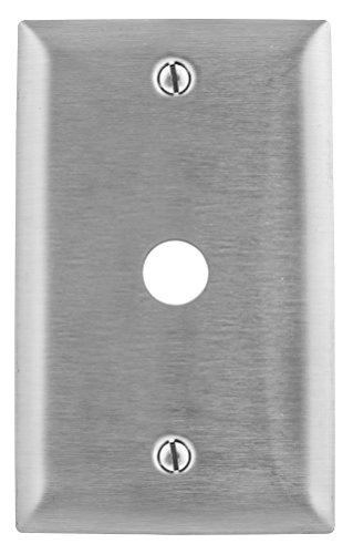 Bryant Electric SS739 1-Gang, 1-Telephone Hole, Box Mount, Stainless Steel Wallplate, Standard Size 302/304 375