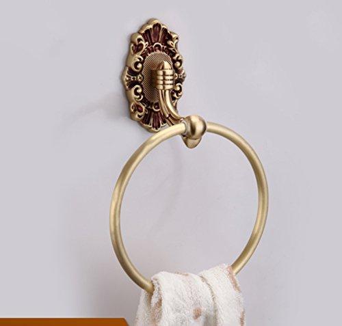 Edge To European all-copper luxury bathroom towel ring towel hanging bathroom towel rack round by Edge To (Image #5)