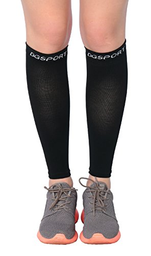 - Calf Compression Sleeve - Leg Compression Socks - Ease Shin Splits & Calf Pain - Protect Your Legs While Running & Cycling - Ideal for Nurses, Waitresses & Travel (Large)