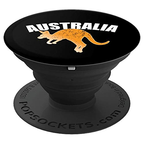 Australian Kangaroo Shirt Australia Souvenir Jumping PopSockets Grip and Stand for Phones and -