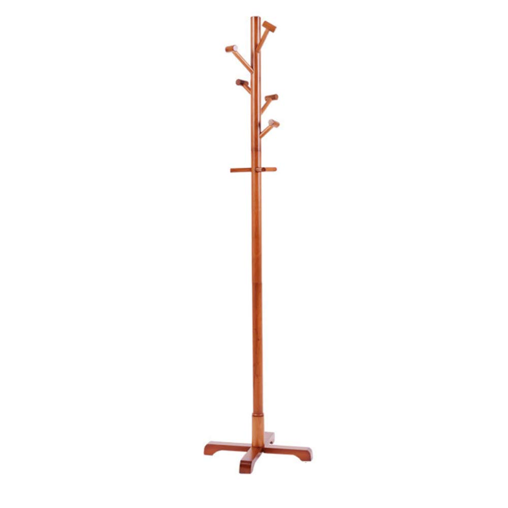 A Laogg Standing Coat Stand Coat Rack European Wood Hanger Cylindrical Hammer Living Room Furniture Simple Drying Racks