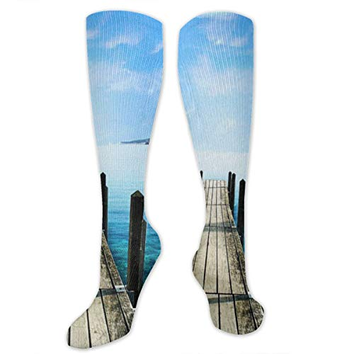 Calm Bridge Over The Lake Customized Socks For Women And Men,Customized Stockings For Running,Athletic,Travel,Daily Wear ()
