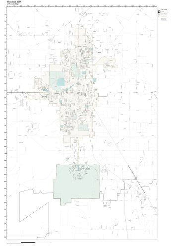 Roswell Zip Code Map.Amazon Com Zip Code Wall Map Of Roswell Nm Zip Code Map Laminated