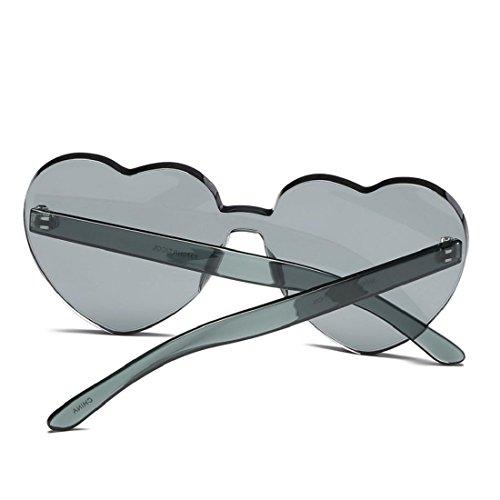 Llunettes soleil de Lunettes de en coeur Mode Candy Lunettes forme Culater® de de UV intégrées soleil Femmes C colorées soleil pf6wqqC