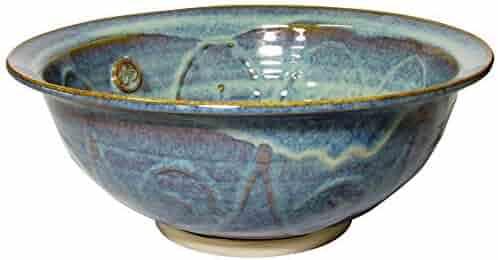 "Medium Serving Bowl Hand-Thrown Hand-Glazed in Ireland. Measures 10"" Diameter 3.5"