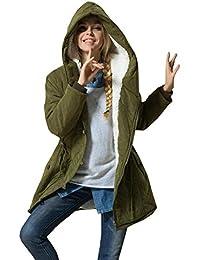 Womens Winter Warm Coat Hoodie Parkas Overcoat Fleece Outwear Jacket with Drawstring