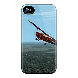 High-quality Durable Protection Case For Iphone 4/4s(sky Plane)
