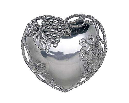Arthur Court Grape Heart Coupe Tray