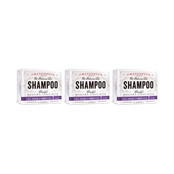 J.R. Liggett's: Bar Shampoo, Tea Tree and Hemp Oil, 3.5 oz (3 pack)