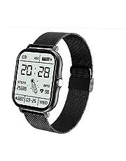 Full Touch Smart Watch, Activity Fitness Tracking Stappenteller, met slimme melding, zwart, draagbaar apparaat