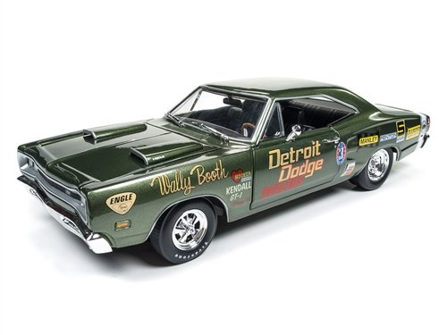 1969 Dodge Super Bee Wally Booth F8 Green Limited Edition to 1002pcs 1/18 by Autoworld AW234