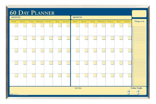 House of Doolittle 60 Day Laminated Aluminum Frame Non-Dated Planner 32 x 21.5 Inch with Write on Wipe off Feature - Recycled (HOD6653)