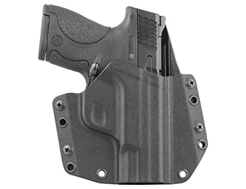 Mission First Tactical MFT S&W Smith & Wesson M&P Shield 9 / 40 Gun Holster OWB Outside Waist Band Kydex Boltaron - Adjustable Cant US Made (Tactical Shield)