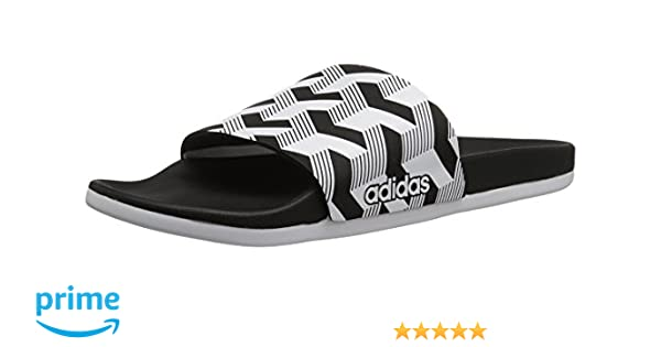 sports shoes e1f50 cd710 adidas Men s Adilette CF+ Link GR Slide Sandal, core black white core black,  9 M US