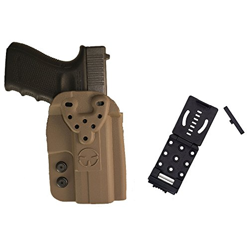 Modular Rail (SIG SAUER P250 (no rail), P320, P226, P229 OWB Kydex Modular Multi-Fit Holster with Push Button Belt Locking Mount, Flat Dark Earth)