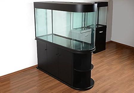raumteiler aquarium u150 mattschwarz