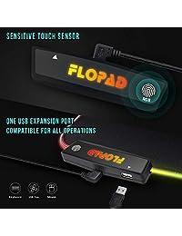 Alfombrilla de ratón LED RGB para videojuegos, 10 modos de luz, con bordes cosidos duraderos y base de goma antideslizante, gran alfombrilla de ratón de alto rendimiento optimizada para Gamer 31,5 x 11,8 pulgadas