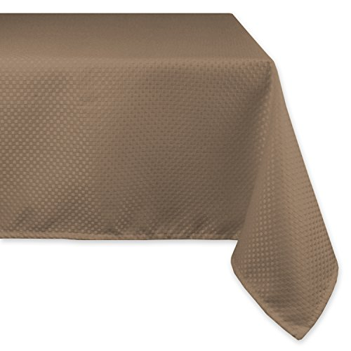 DII Wrinkle Resistant Wide Tablecloth, 70 x 120