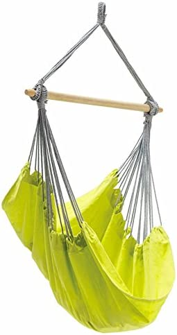 BYER OF MAINE Panama Hanging Hammock Chair, Indoors and Outdoors, EllTex Cotton Polyester Blend Fabric, Kiwi, 58 L X 39 W, Holds up to 240lbs