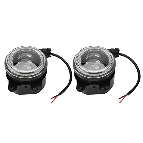 Daphot-Store - 2Pcs 4inch 30W Led Fog Light DRL Fit for Jeep Wrangler LJ JK TJ Dodge Car Accessories Car Styling