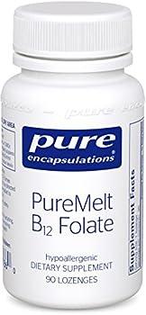 Pure Encapsulations - PureMelt B12 Folate - Sugar-Free Dissolvable Lozenge with 1,000 mcg Vitamin B12 and Active Folate (as Metafolin L-5-MTHF) - 90 Lozenges