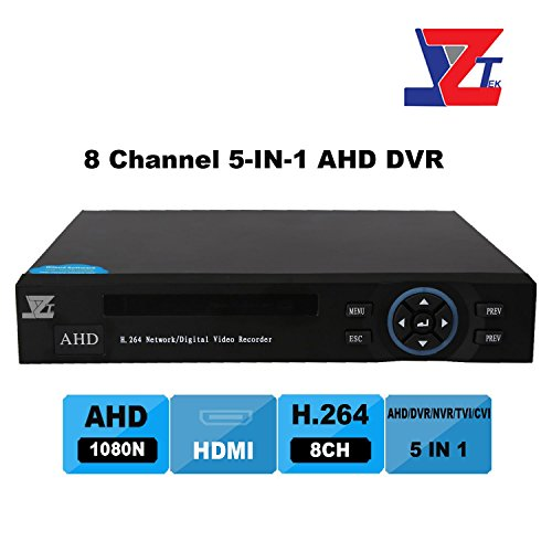 Hybrid Video Recorder (JZTEK 8ch 1080N Hybrid 5-in-1 AHD DVR (1080P NVR+1080N AHD+960H Analog +TVI+CVI) CCTV 8 channel Standalone dvr Quick QR Code Scan w/ Easy Remote View Home Security Surveillance Camera)