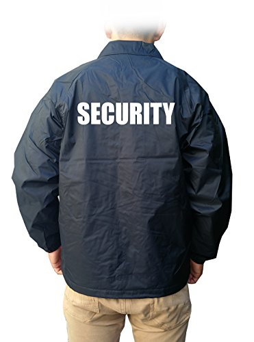 Gs-eagle Men's Printed Security Windbreak Waterproof Jumper XLarge Navy (Security Windbreaker)