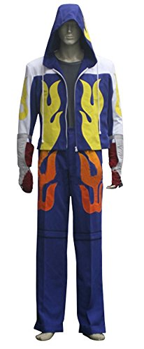 Jin Male Costumes (Mtxc Men's Tekken Cosplay Costume Jin Kazama Full Set Size XXX-large Blue)