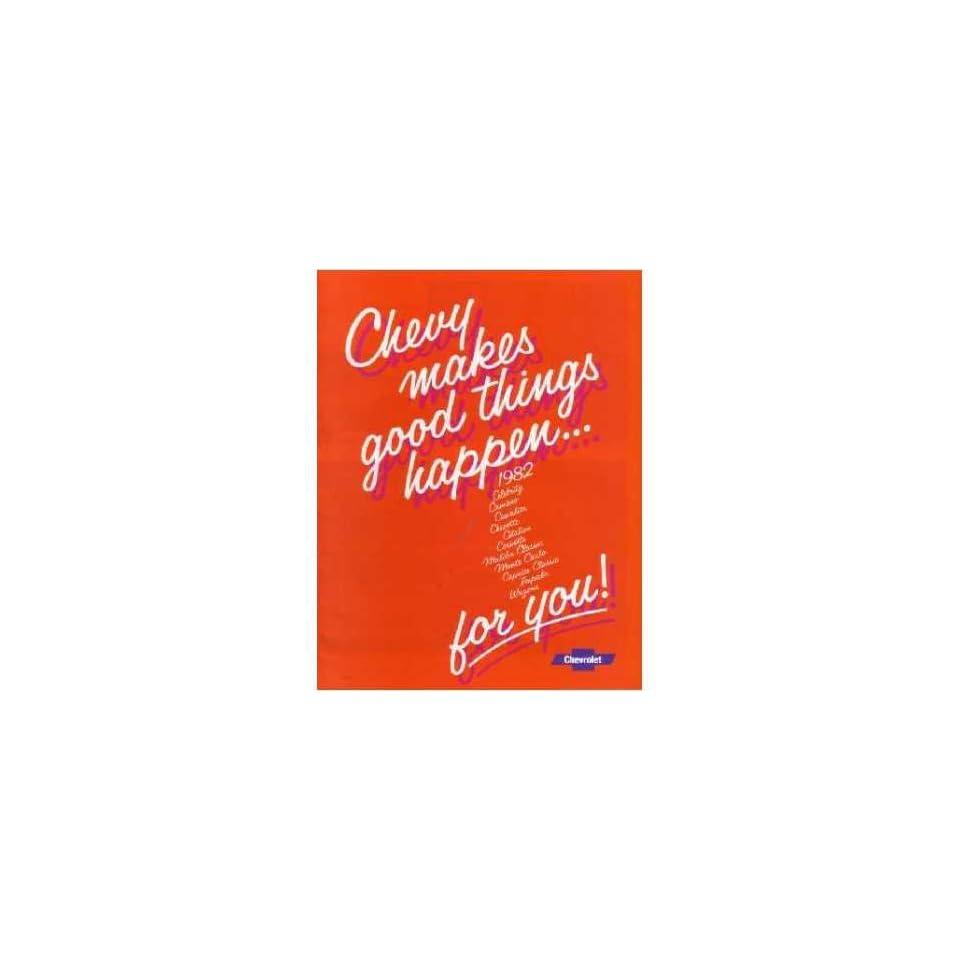 1982 Chevrolet Sales Brochure Literature Book Piece Advertisement Specs Options
