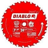 Diablo D0724P 7-1/4-Inch 24 Tooth ATB Carbide Framing Saw Blade...