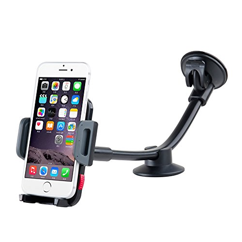 Universal Car Phone Mount Holder, Windshield Long Arm Cell P