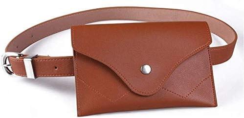 DHRH Riñonera Mujer Bolso Cuero PU Bolso cinturón Cuero con