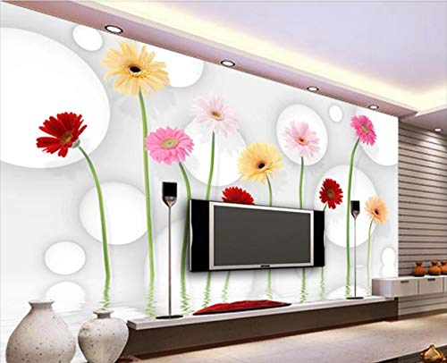 Wall Mural 3D Wallpaper Abstract Chrysanthemum Wildflower Ball Modern Wall Paper for Living Room Bedroom Tv Wall Decor