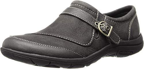 Merrell Women's Dassie Buckle Slip-On Shoe,Black,8 M US