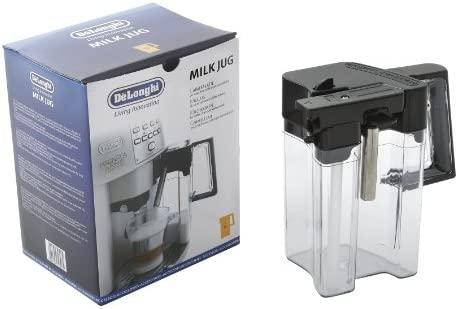 DeLonghi 5513211621 - Depósito de leche con una tapa para EAM, ESAM 3500/3600, plástico, transparente/negro