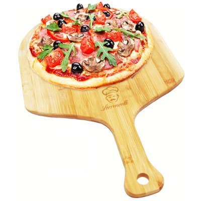 Lorrenzetti Bamboo Pizza Peel. Easily Slide Pizzas Into Your Oven. 19.7