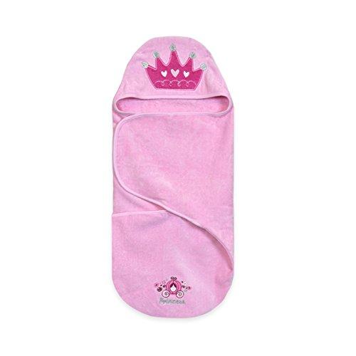 Disney Baby Bath Swaddler, Pink Baby (Disney Cinderella Coach)