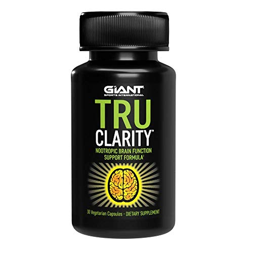Giant Sports Tru Clarity - Keto Nootropic Brain Support Supplement for Better Memory, Focus, and Mental Clarity | Includes B12, Ginkgo Biloba, DMAE, Bacopa Monnieri, Rhodiola Rosea | 30 Capsules