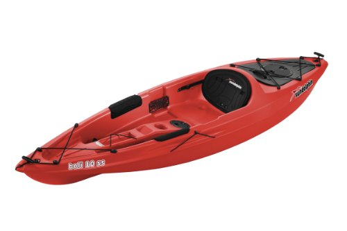 Sun Dolphin Bali SS Sit-on top Kayak (Red, 10-Feet) (On Sit Pelican Kayak)