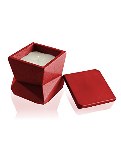 candellana Kerzen Beton Candle-modern iii-red, Duft: Lavender Hill