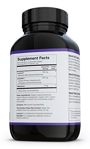 Smarter Sleep, Nighttime Sleep Aid with Bioactive Milk Peptides, 60 Chewable Mint Tablets (1 Month Supply) (1) by Smarter Nutrition (Image #2)
