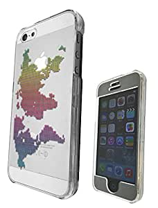 c0089 -Colors Cool Fun World Map Design iphone 5C Fashion Trend CASE Full COVER Front And Back Full Protective Case Cover