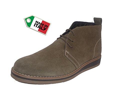 MADE IN ITALY - Zapatillas de ante para hombre TUPE