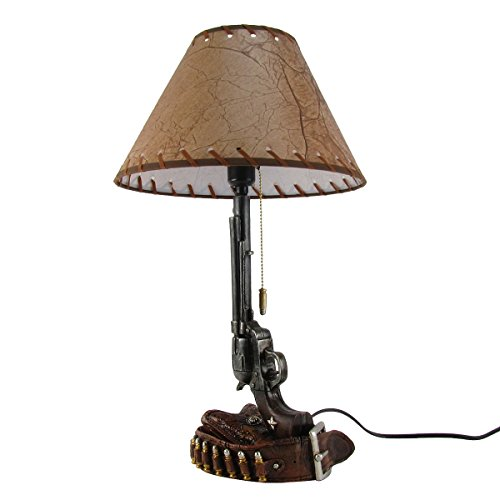 Revolver Gun and Bullet Holster Belt Table Lamp