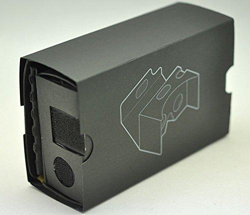 2016 Black Google Cardboard ( V2 ) 3d Vr Virtual Reality DIY 3D Glasses for Smartphone 4.7 inch - 6 inch with Headband