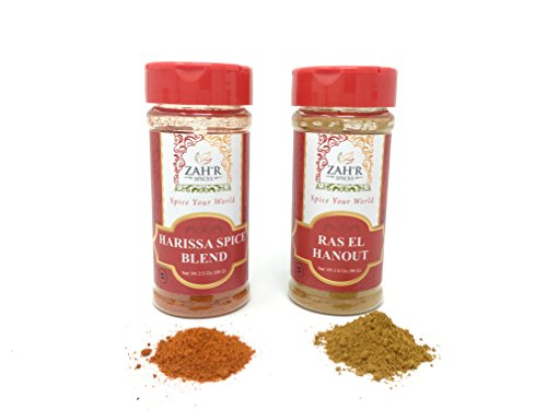 - Zah'r Spices Moroccan Tagine Duo - Harissa and Ras El Hanout Variety Pack