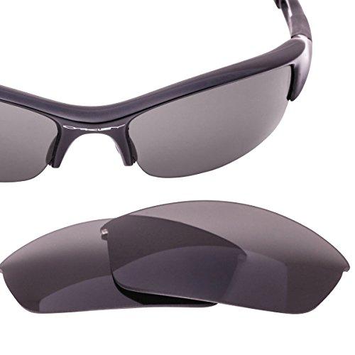 LenzFlip Replacement Lenses Compatible with Oakley FLAK JACKET Sunglasses - Gray ()
