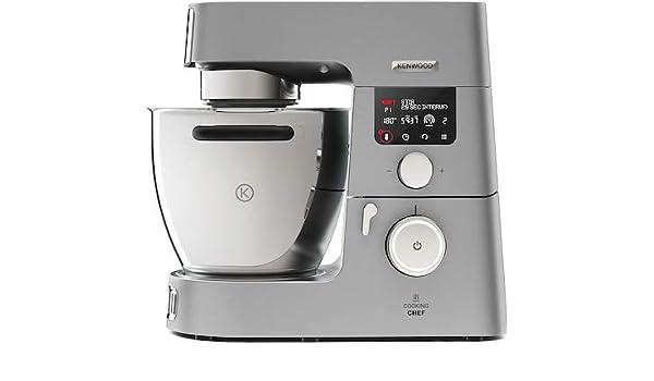 Robot de cocina de 1500 W con cuenco de 6,7 litros, color plateado: Amazon.es: Hogar